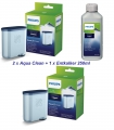 2x SAECO Philips Aqua Clean CA6903/10 + 1 x 250ml Saeco Entkalker Wartungs Set